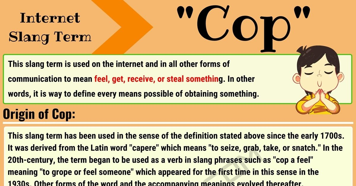 """""""Cop"""" Meaning 