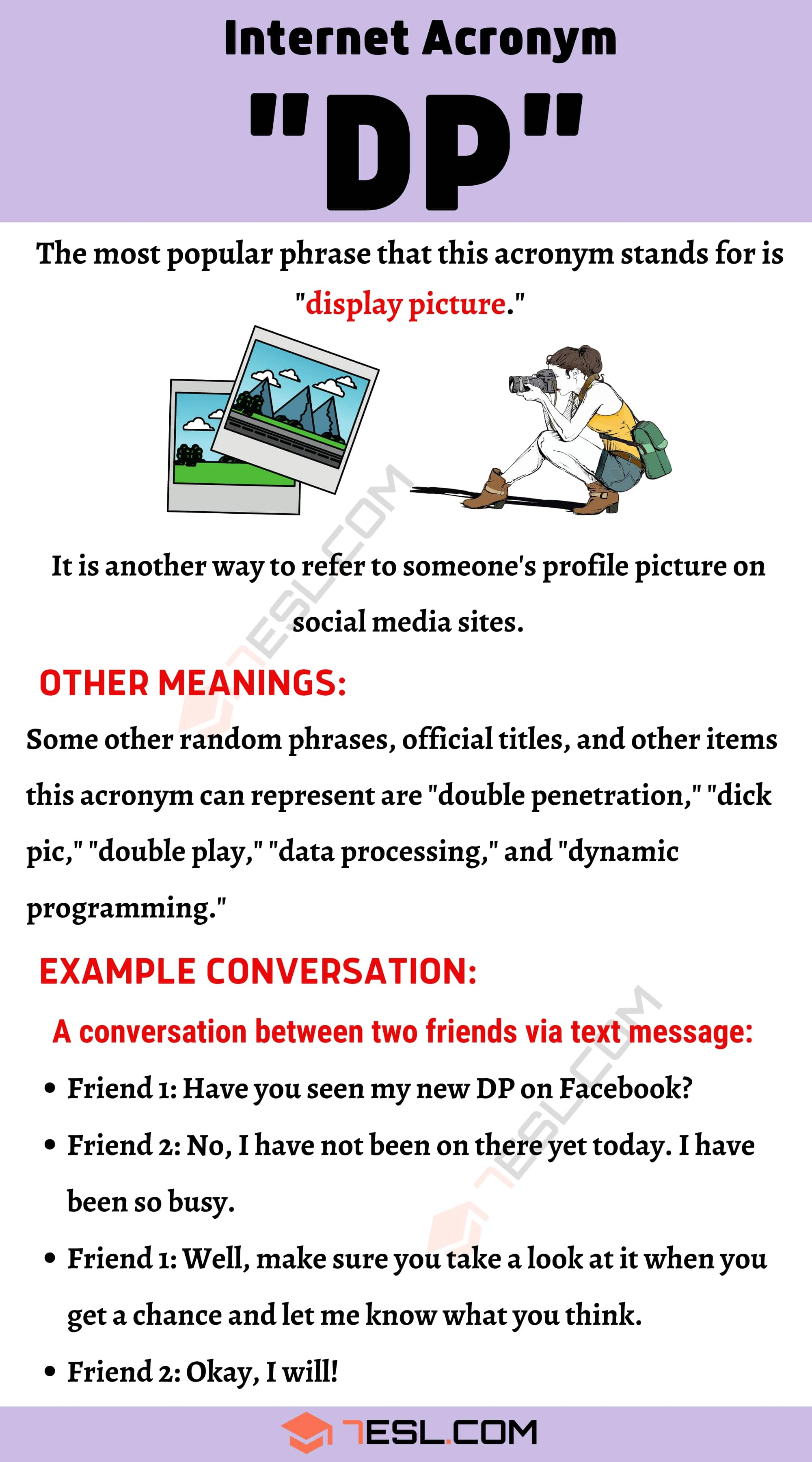 "DP Meaning: What Does ""DP"" Mean and Stand For? with Useful Examples"
