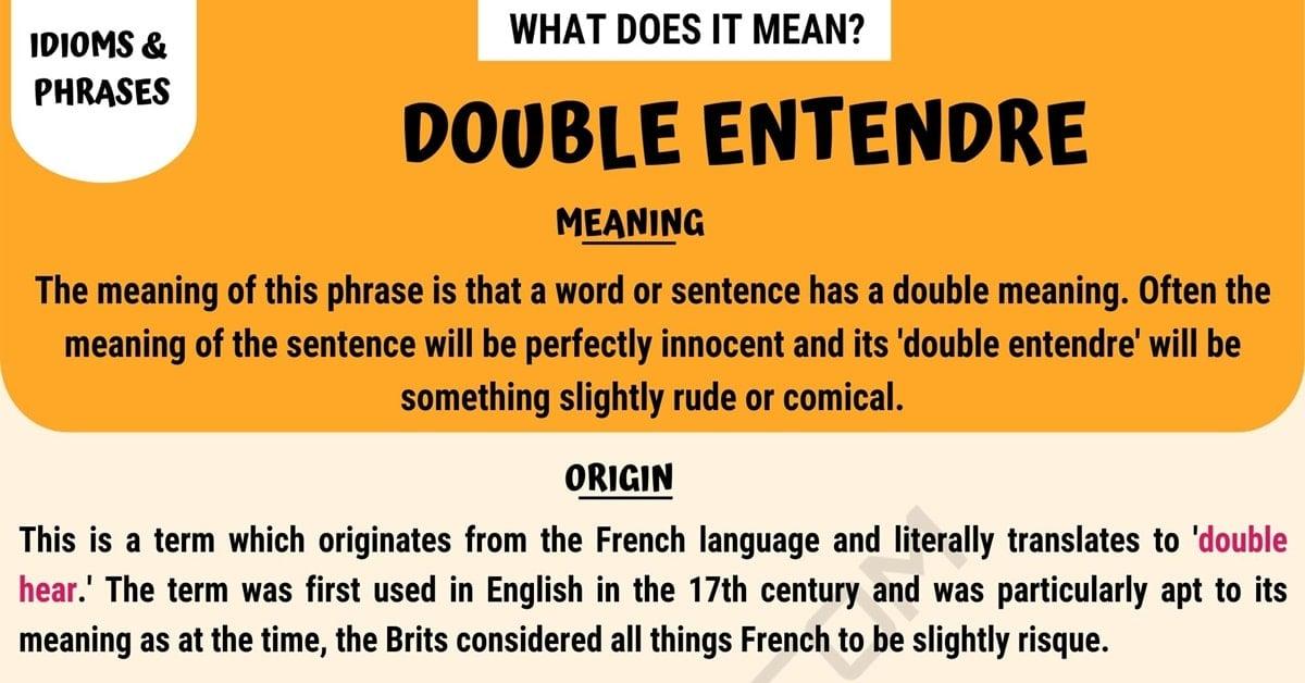 Double Entendre