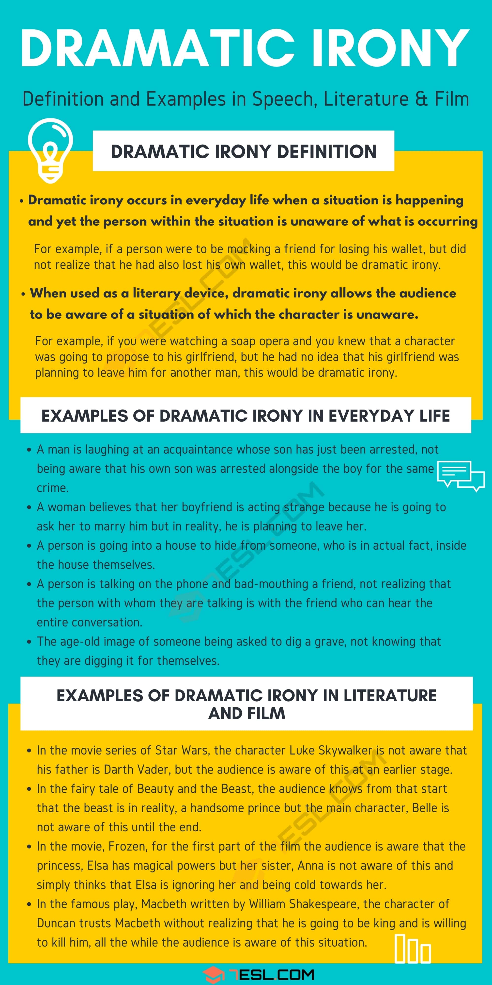 Dramatic Irony: Definition and Examples in Speech, Literature and Film
