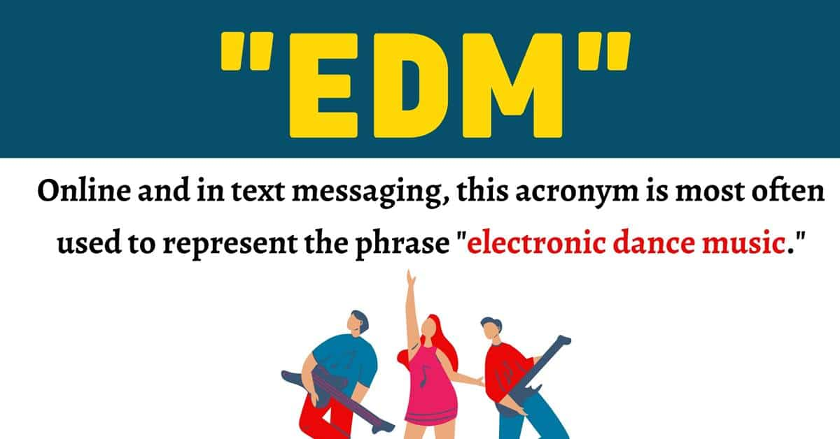 """""""EDM"""" Meaning 