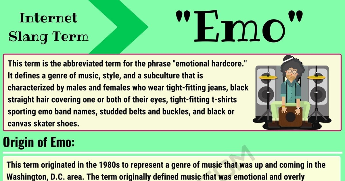 """'Emo' Meaning: What Does the Term """"Emo"""" Mean and Stand for? 1"""