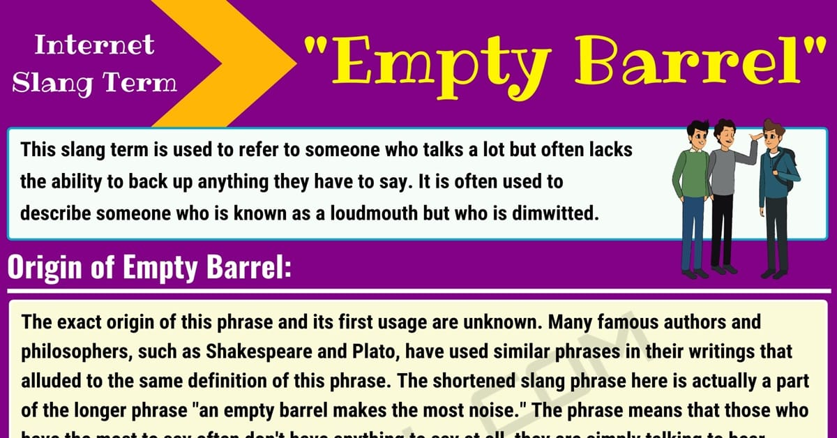 Empty Barrel Meaning: What Does this Interesting Slang Term Mean? 1
