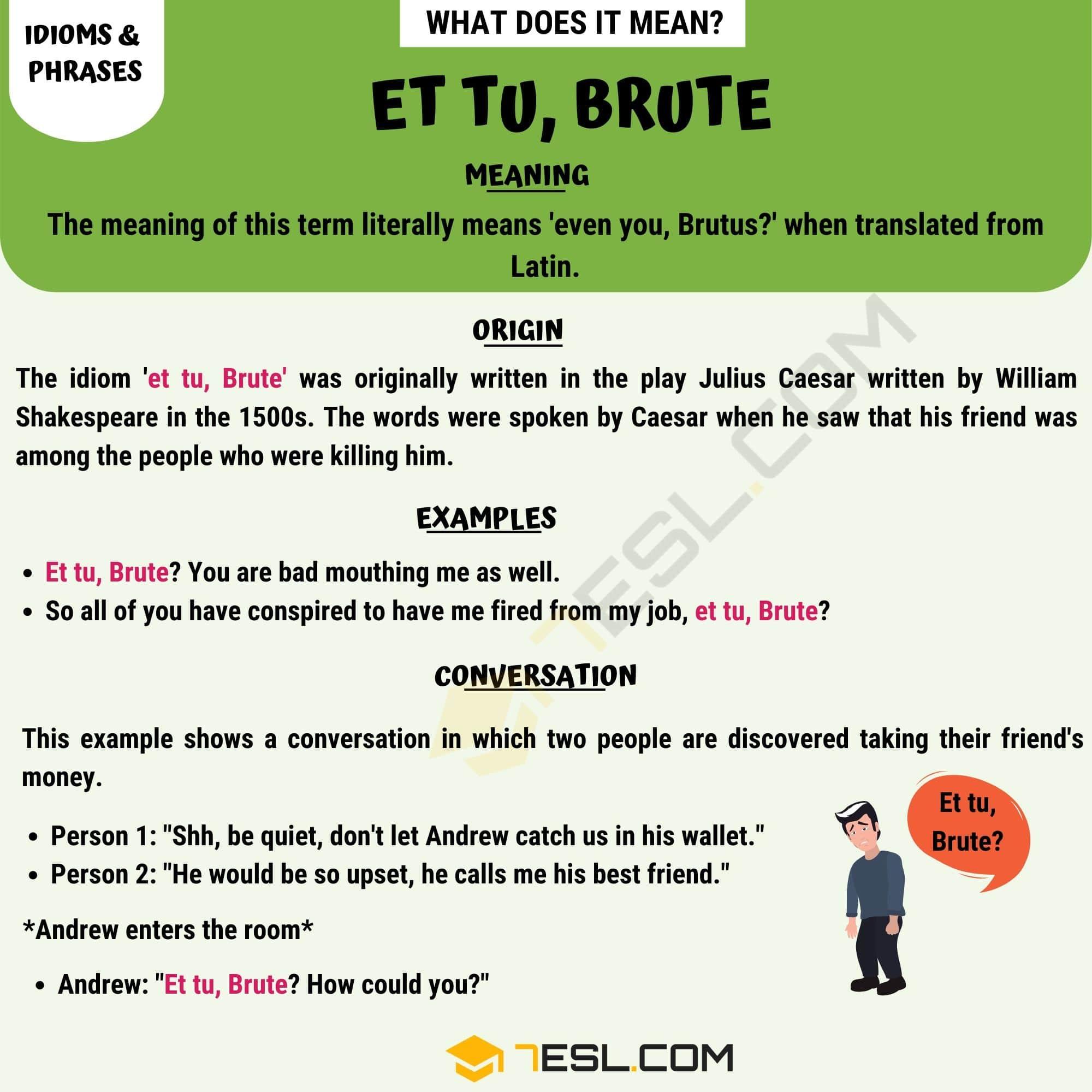 Et tu, Brute