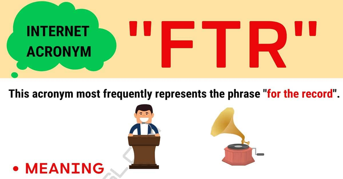 """""""FTR"""" Meaning 
