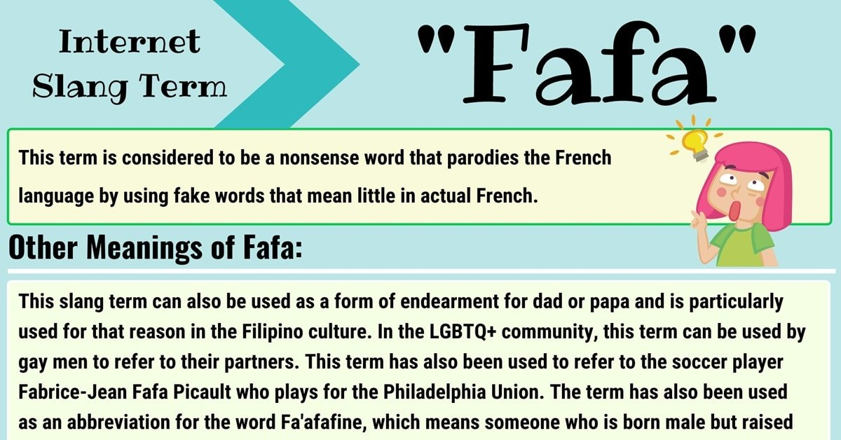 """Fafa Meaning: What Does the Slang Term """"Fafa"""" Mean? 3"""