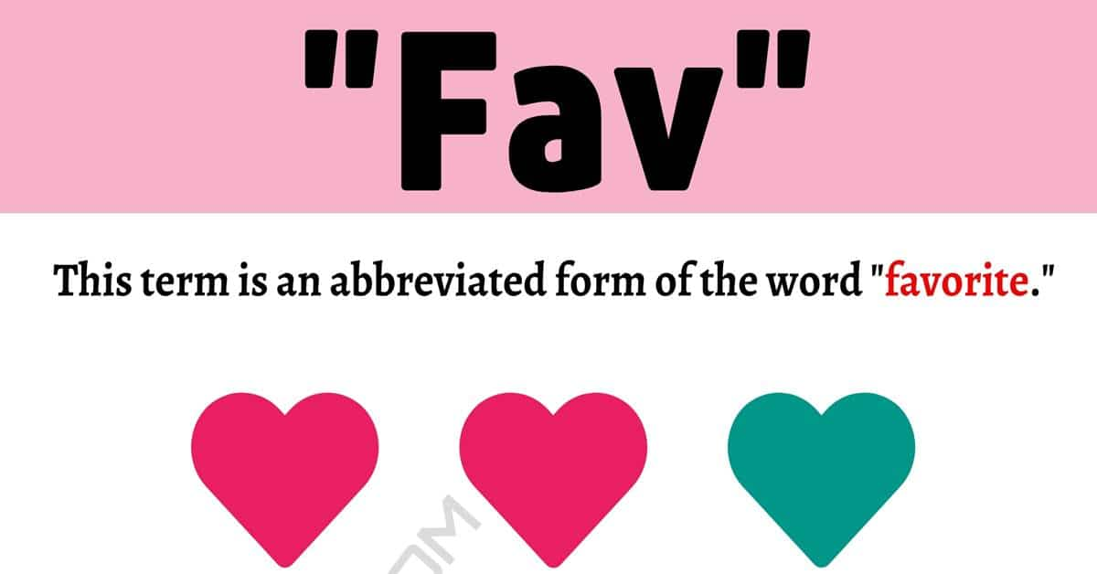 """""""Fav"""" Meaning 