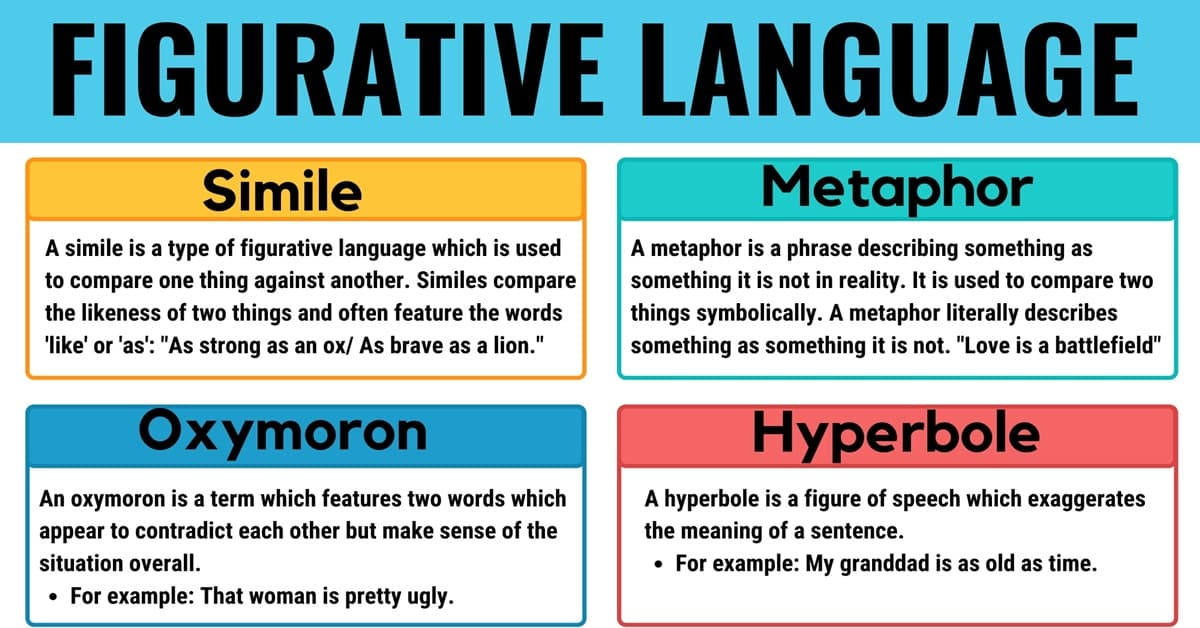 Figurative Language Definition & Examples with Different Types 1