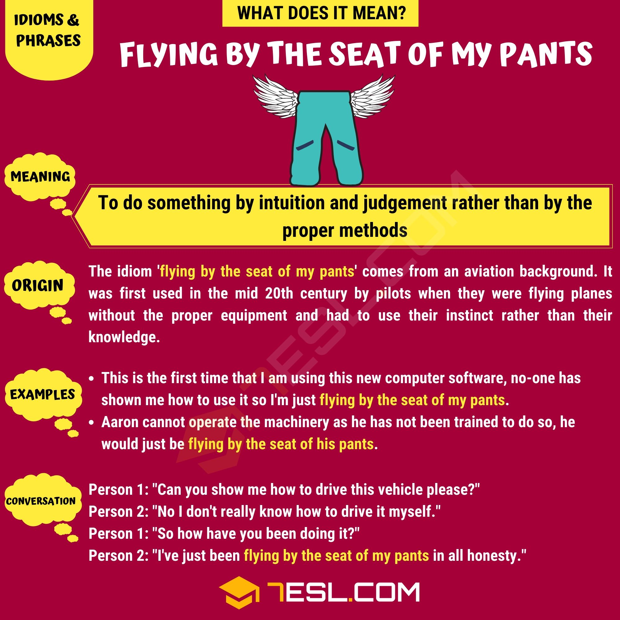 Flying by the Seat of My Pants