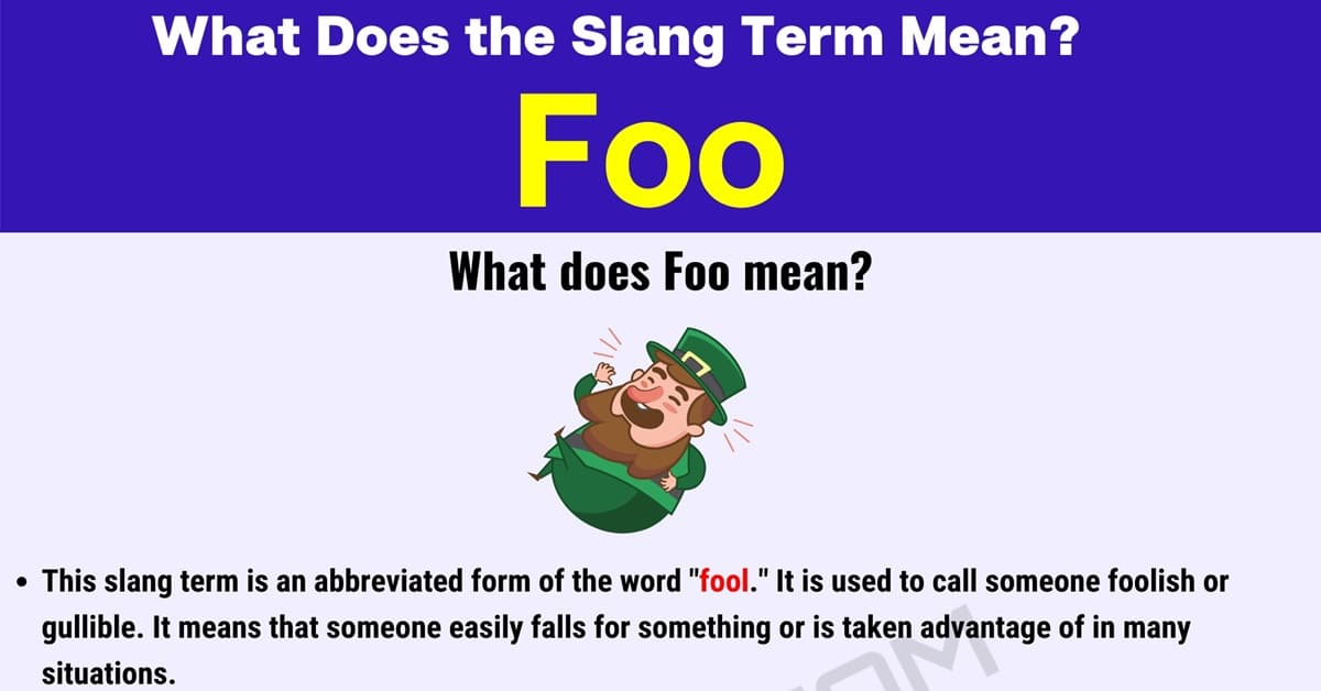"""Foo Meaning: Definition and Examples of """"Foo"""" in Online Conversations 1"""