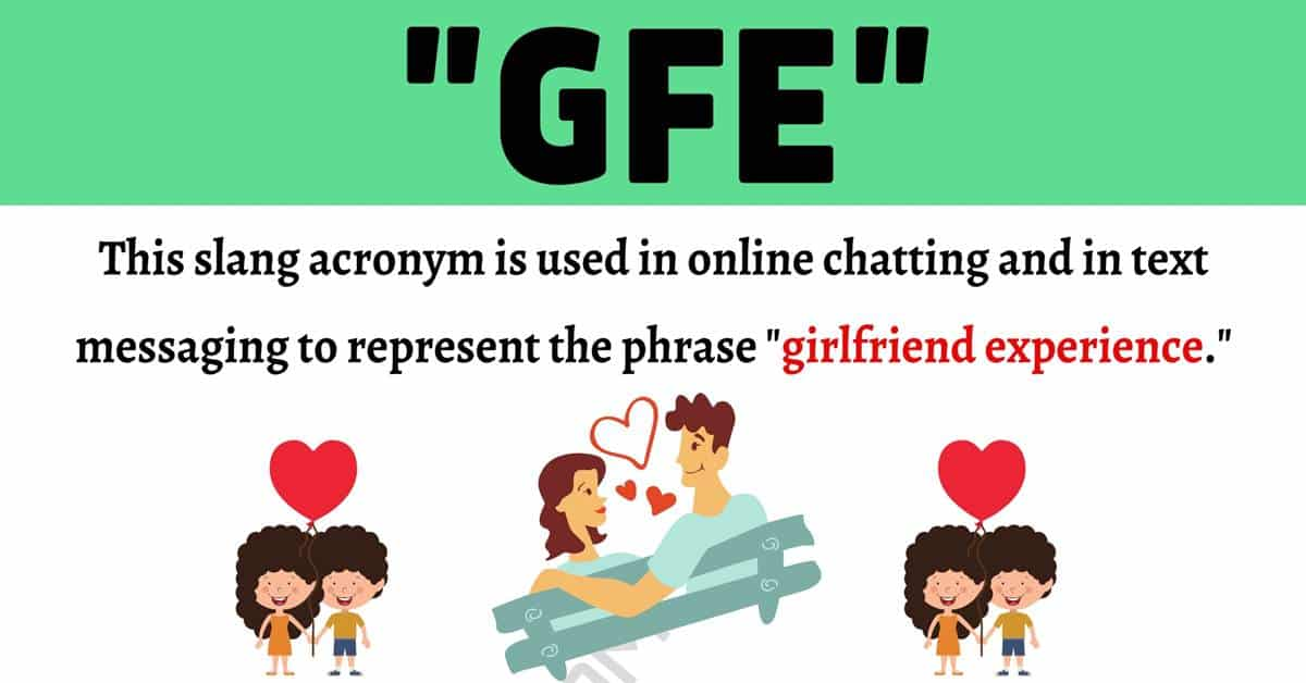 """GFE Meaning: Examples and Definition of The Acronym """"GFE"""" 1"""