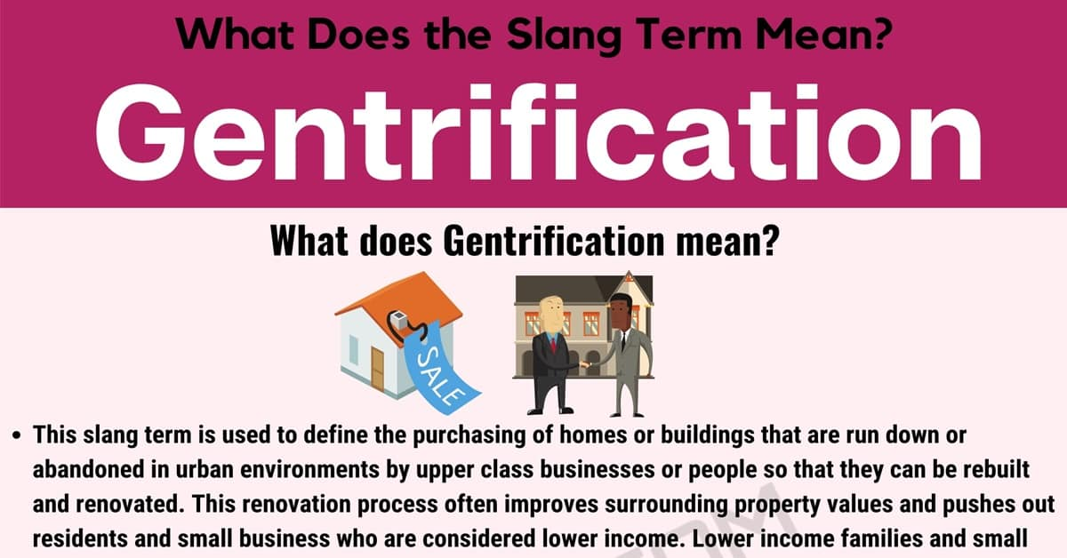 """Gentrification Meaning: What Does the Useful Term """"Gentrification"""" Mean? 1"""