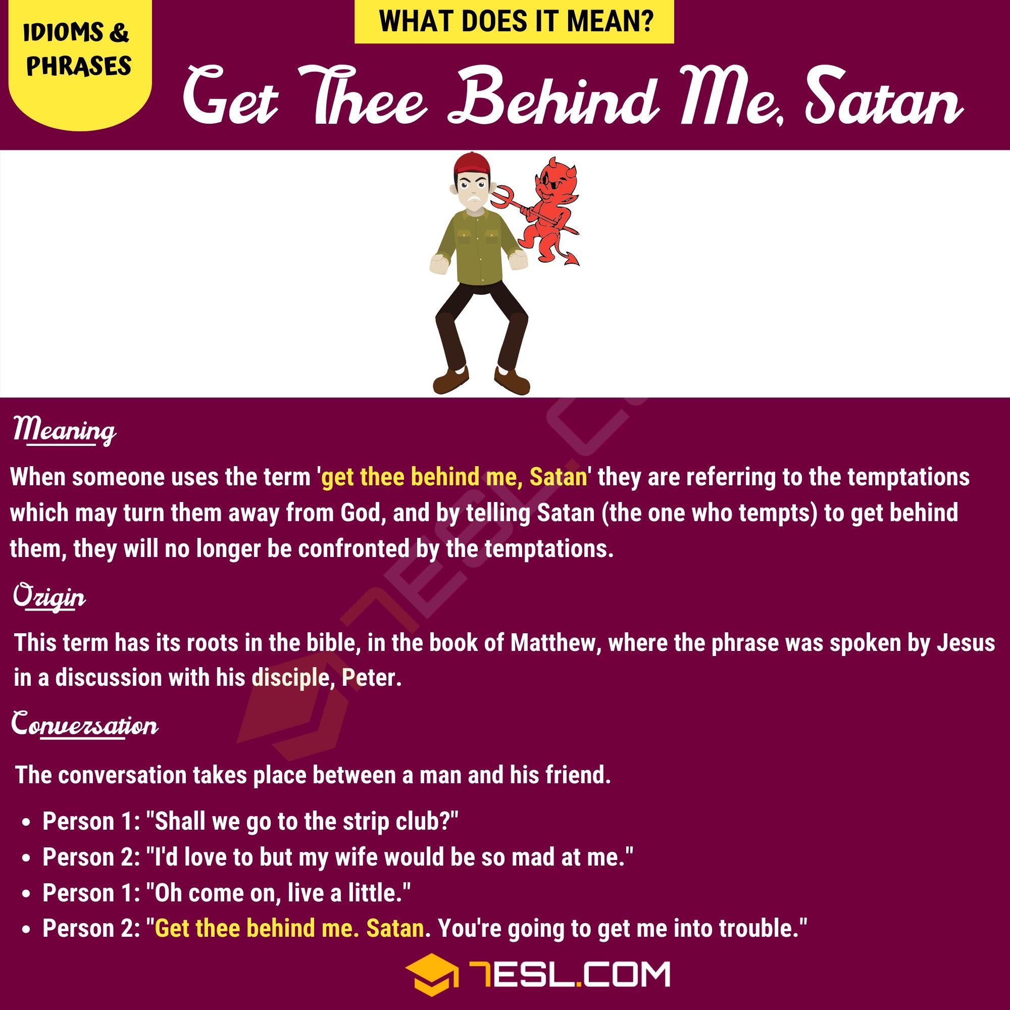 Get Thee Behind Me, Satan