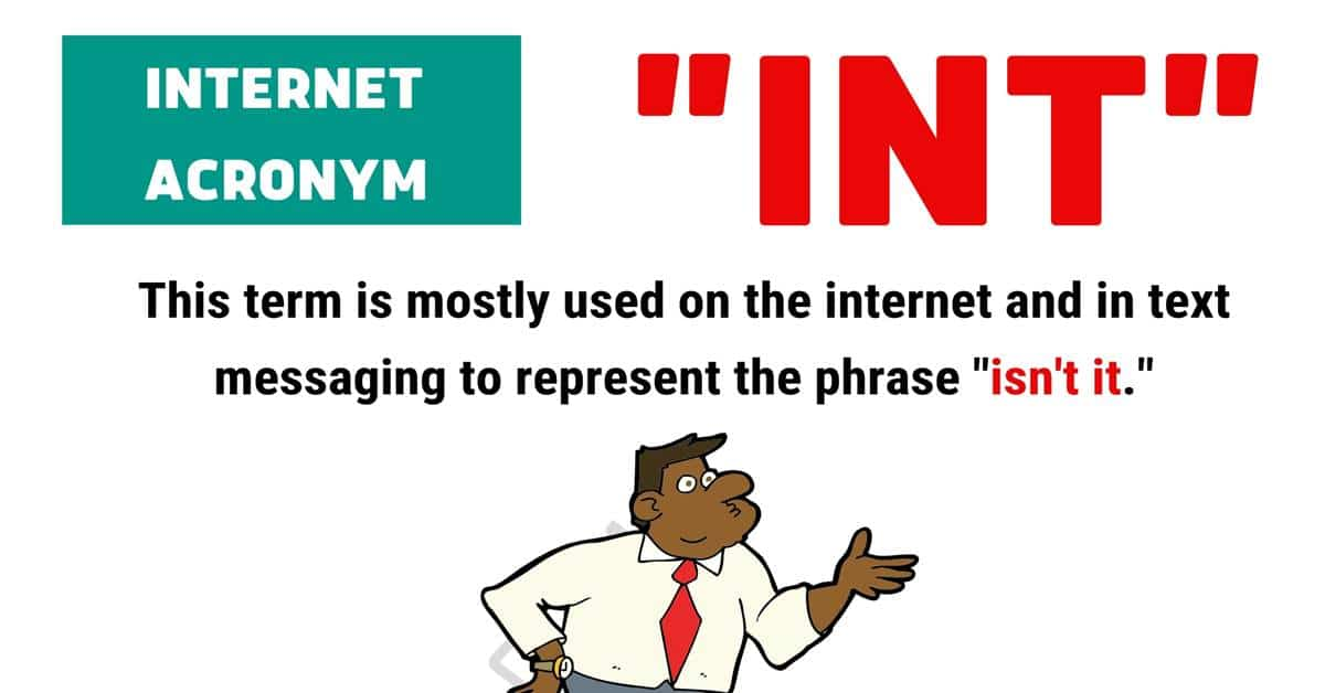 """""""INT"""" Meaning 