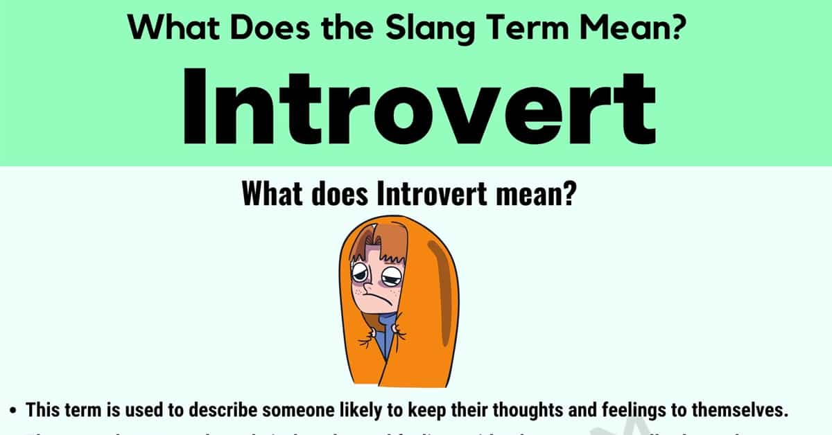 Introvert Meaning: How Do You Define the Interesting Slang Term 'Introvert'? 1