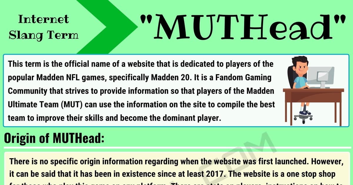 What Does 'MUTHead' Mean in Texting and Online Slang? 1