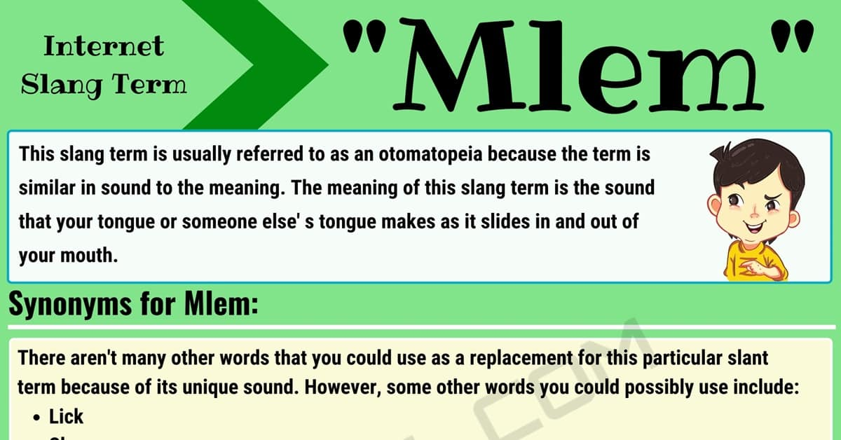 Mlem Meaning: What Does 'Mlem' Mean in Texting and Online Slang? 1