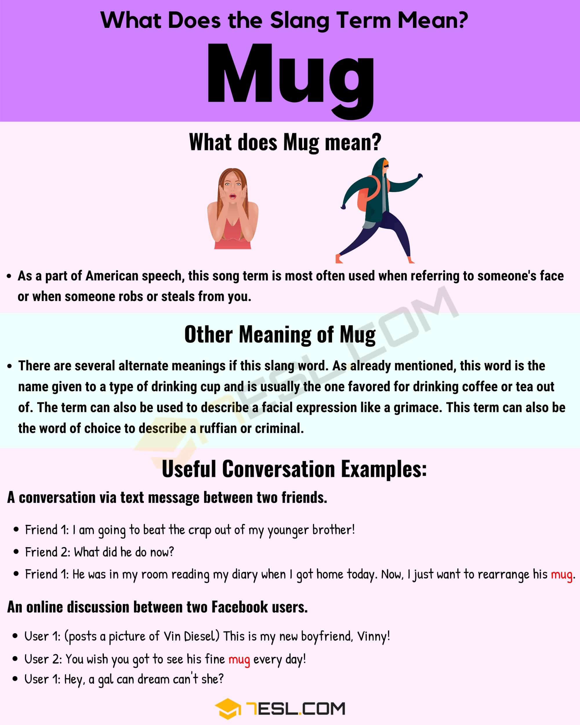 Mug Meaning Useful Examples And Definition Of The Slang Term Mug 7 E S L