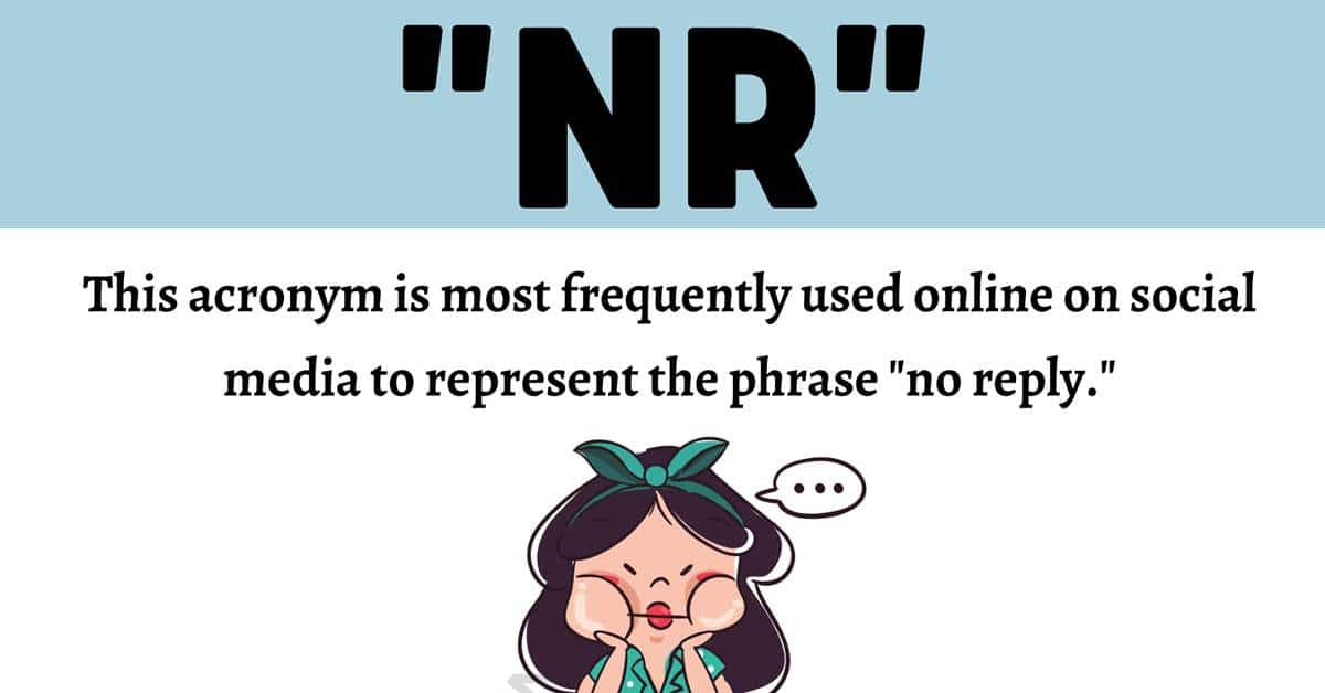 """""""NR"""" Meaning 