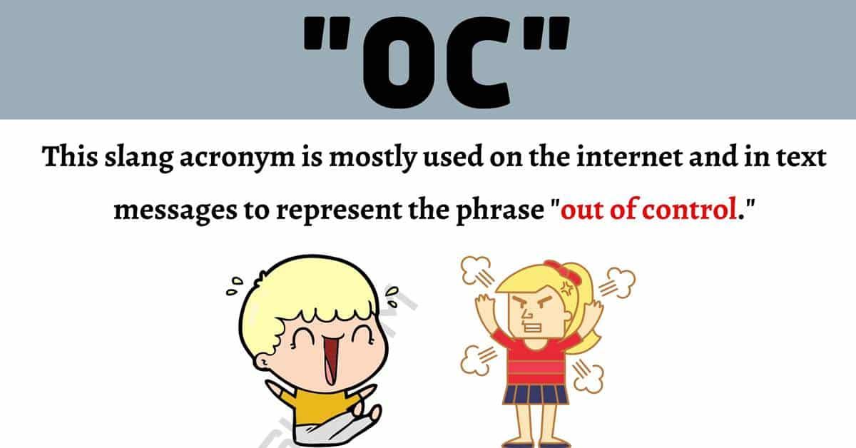 "OC Meaning: How to Use The Internet Acronym ""OC"" Correctly? 1"