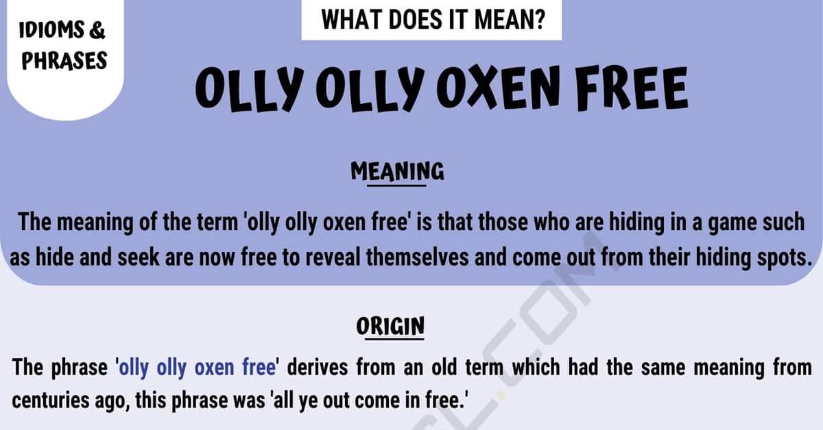 Olly Olly Oxen Free