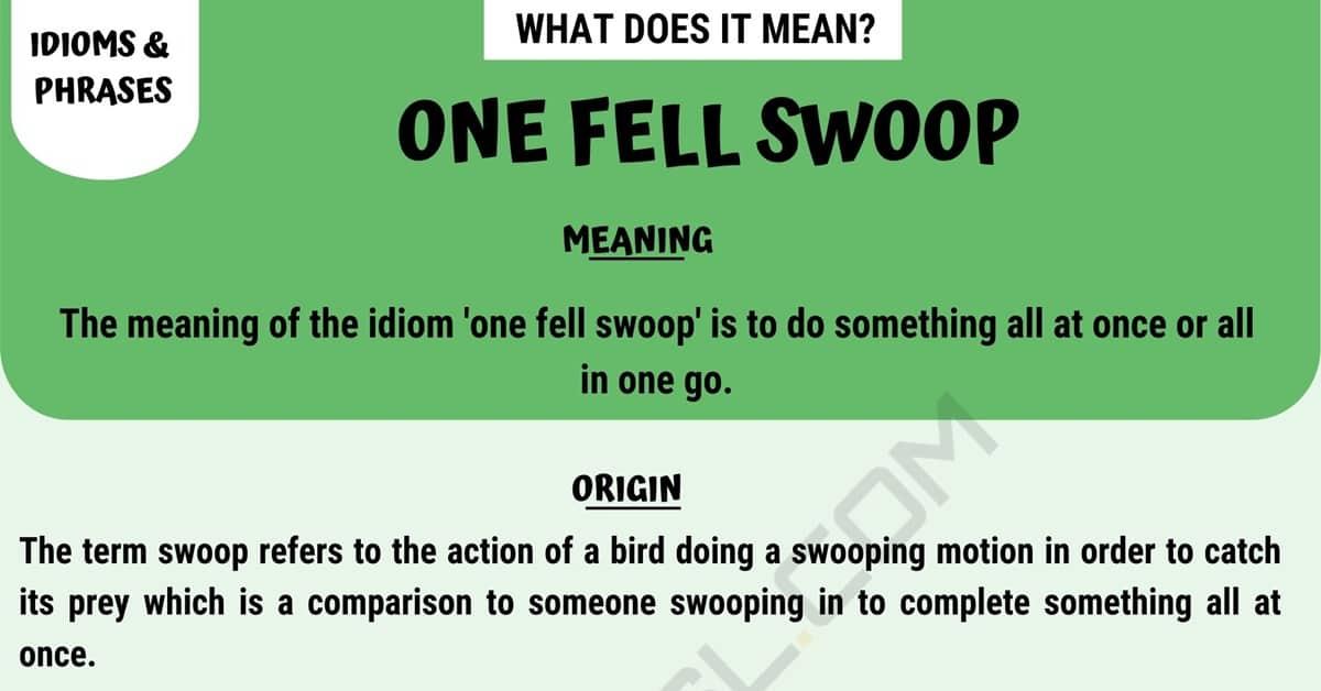 One Fell Swoop