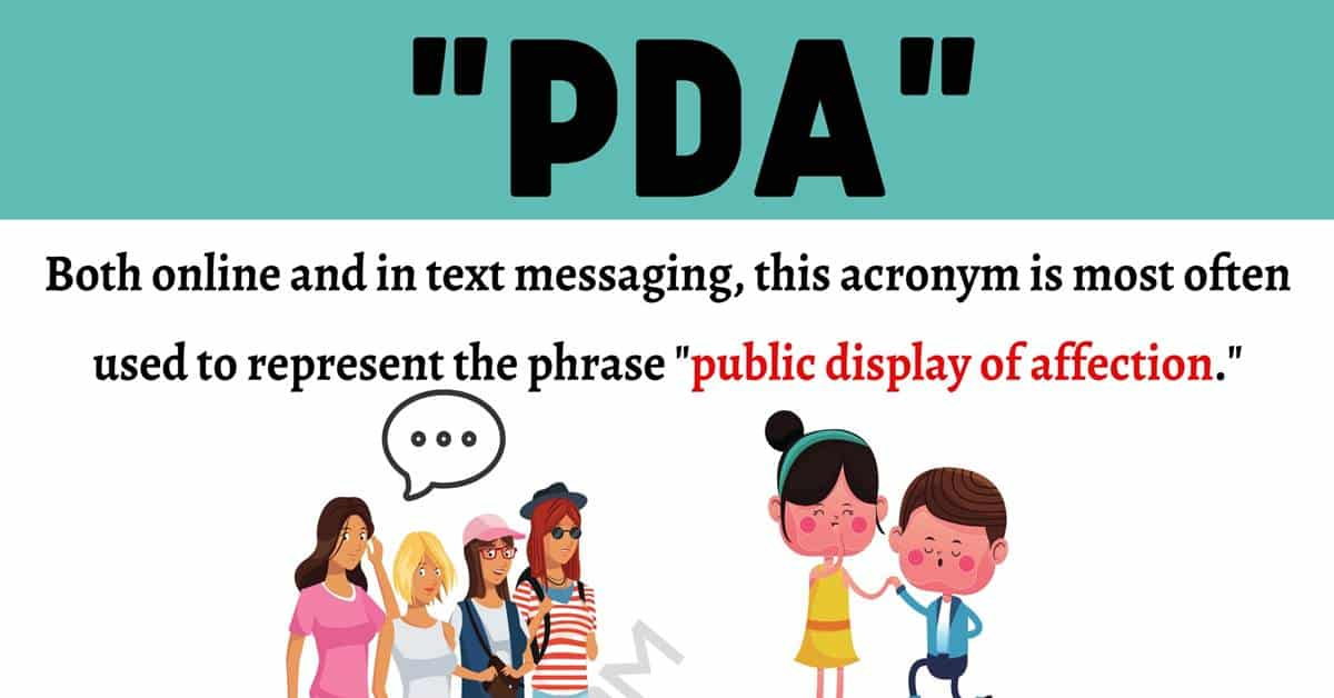 """PDA Meaning: What Does the Acronym """"PDA"""" Stand For? 1"""