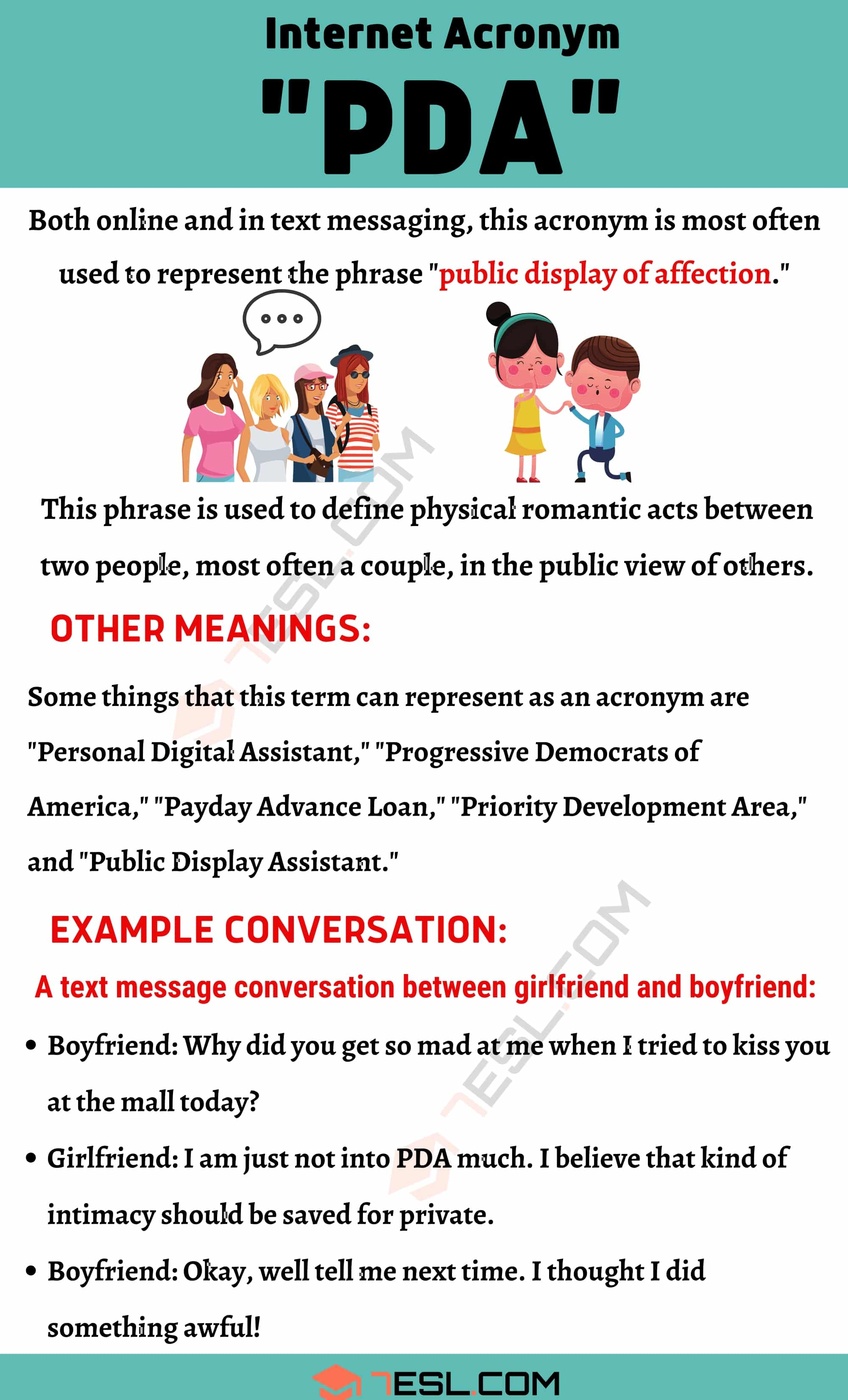 """PDA Meaning: What Does """"PDA"""" Stand For? with Useful Conversations"""