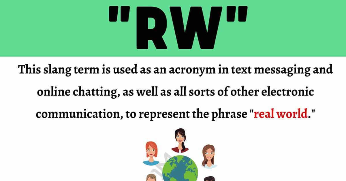 """RW Meaning: What Does the Useful Term """"RW"""" Mean and Stand For? 1"""