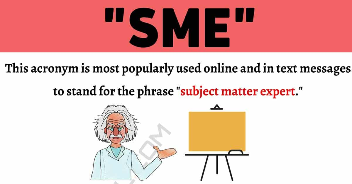 """SME Meaning: What Does the Popular Term """"SME"""" Mean and Stand For? 1"""