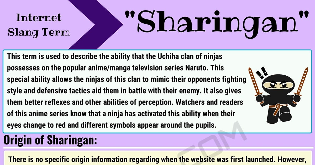 Sharingan Meaning: How Do You Define this Internet Slang Term? 1