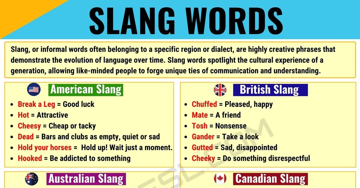 What is Slang? Thousands of Popular Slang Words with Different Types 1