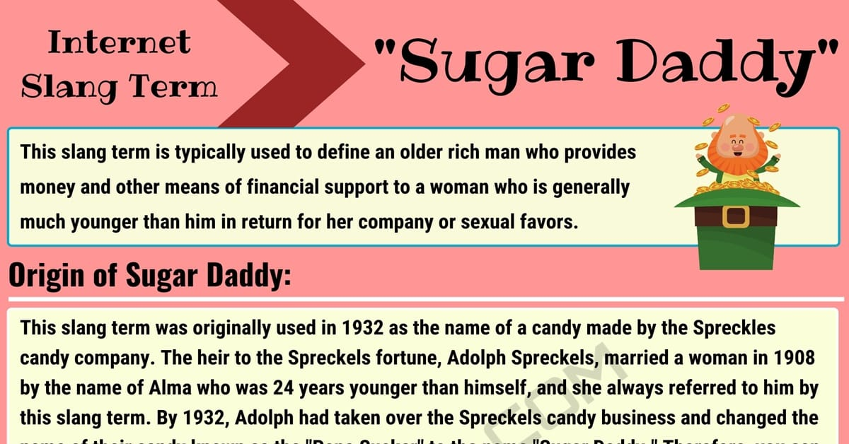 """Sugar Daddy: How to Use the Slang Term """"Sugar Daddy"""" Properly? 6"""