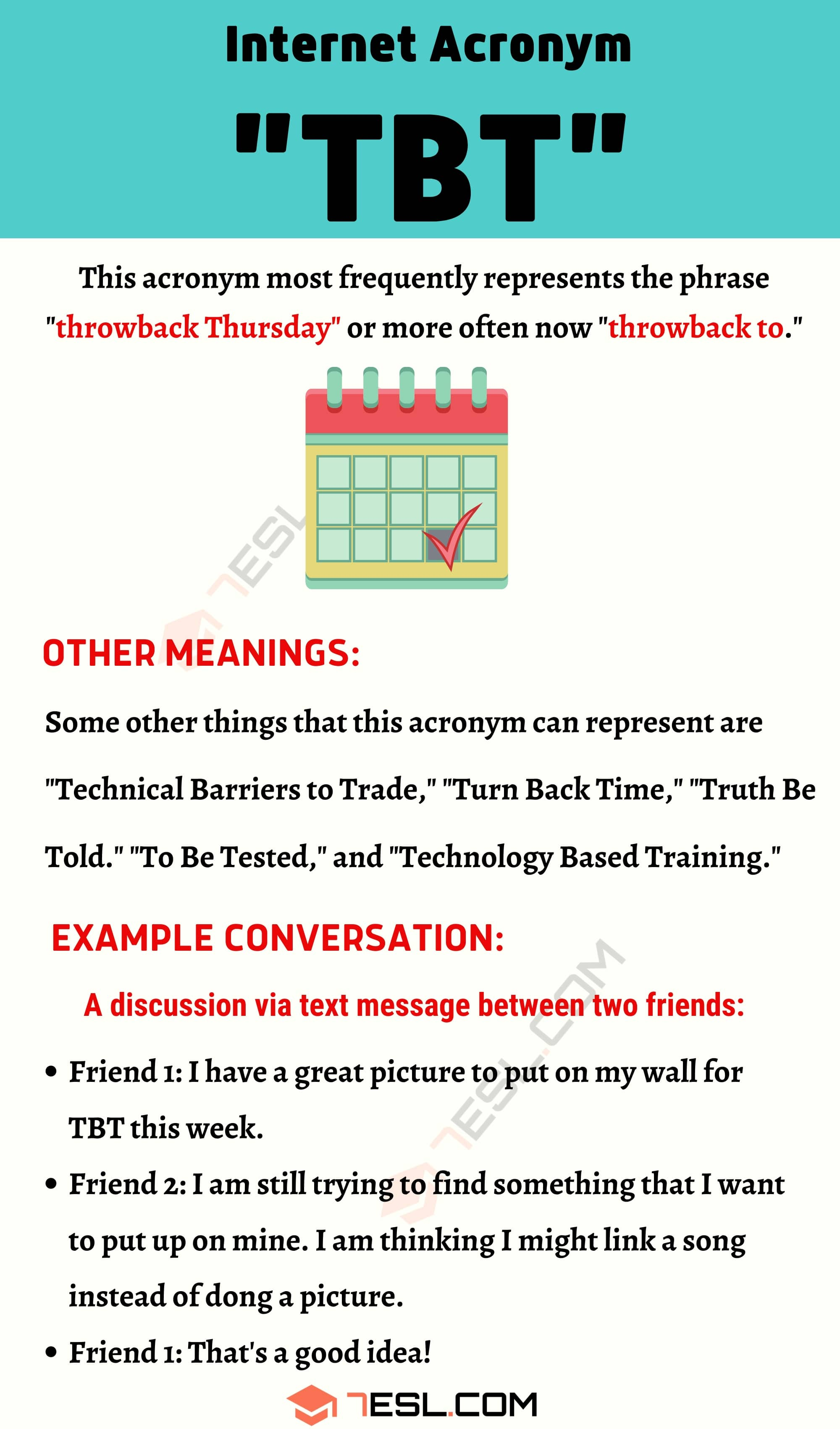 "TBT Meaning: What Does The Interesting Acronym ""TBT"" Mean & Stand For?"