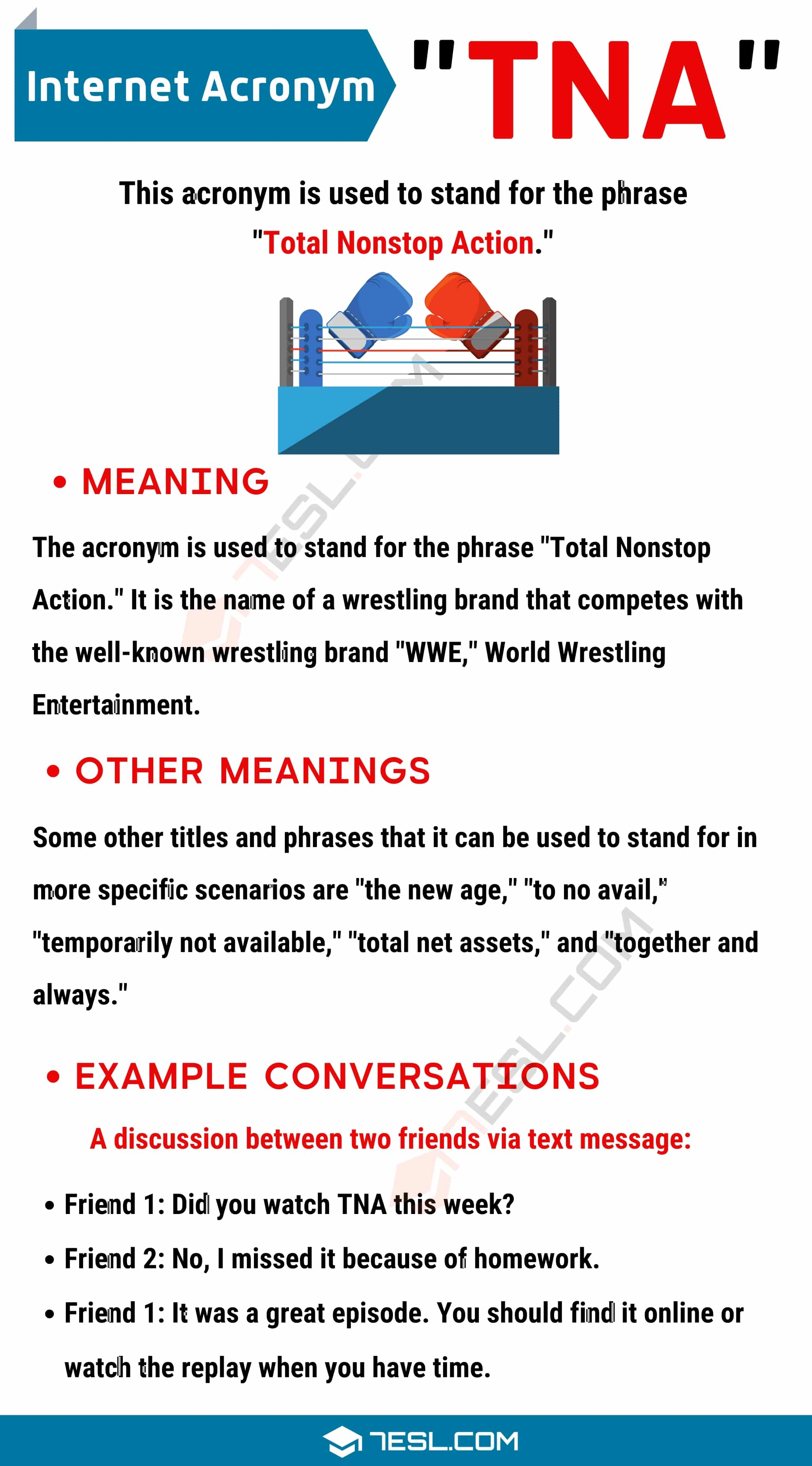"""TNA Meaning: What Does the Useful Term """"TNA"""" Mean and Stand For?"""