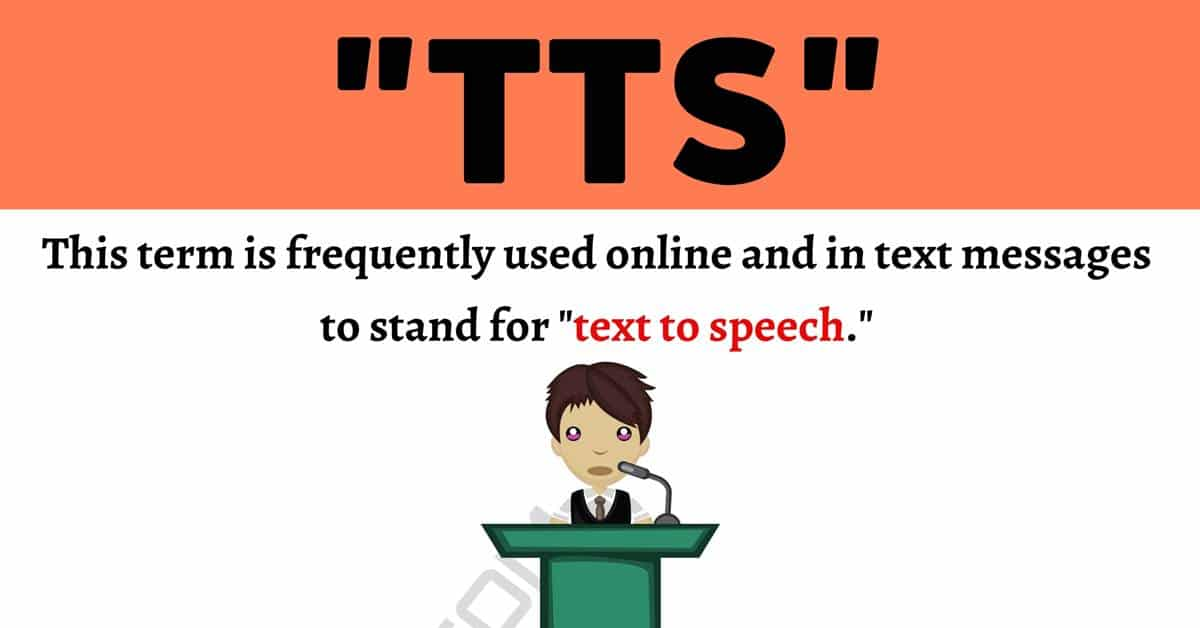 """""""TTS"""" Meaning 