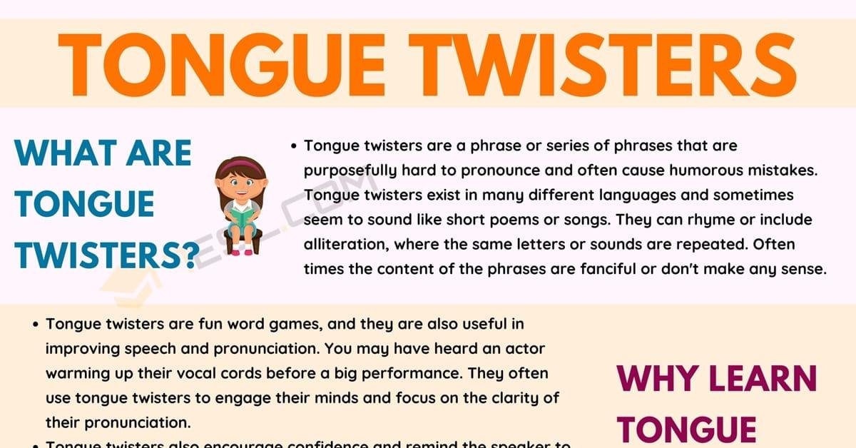 Tongue Twisters: Fun and Useful Pronunciation Tools 8