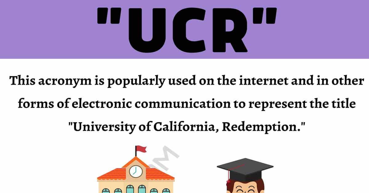 """""""UCR"""" Meaning 
