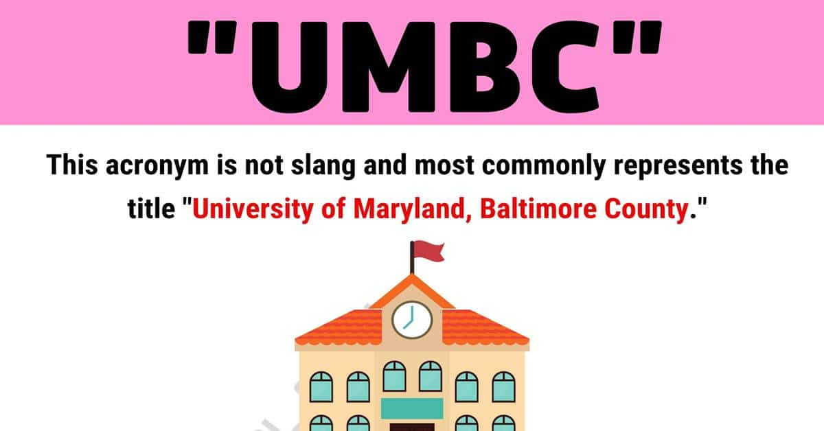 """UMBC Meaning: What is The Meaning of the Acronym """"UMBC"""" 1"""