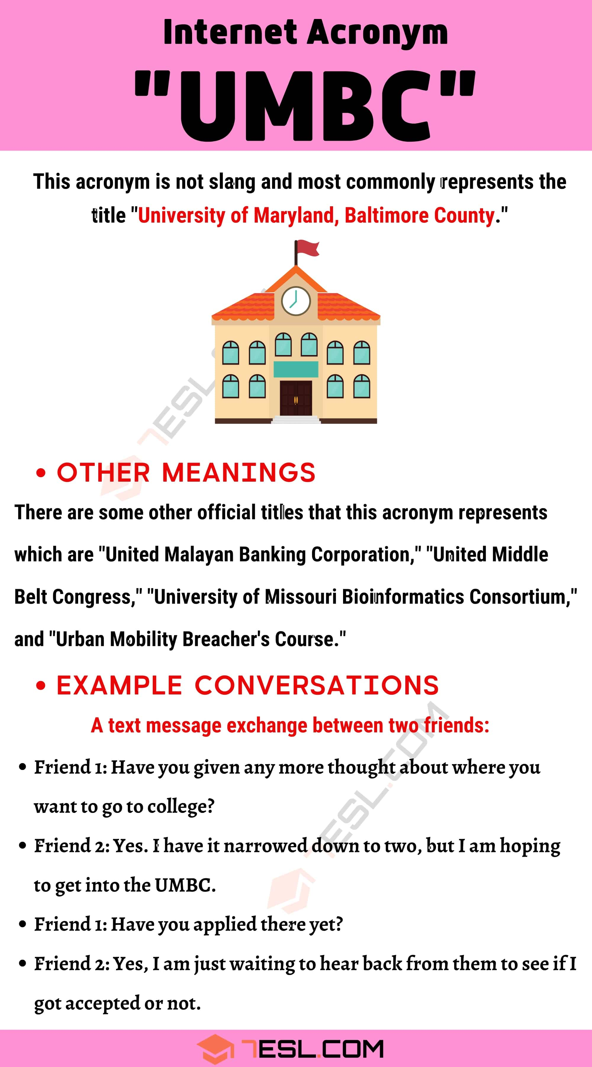 """UMBC Meaning: What is The Meaning of the Acronym """"UMBC"""""""