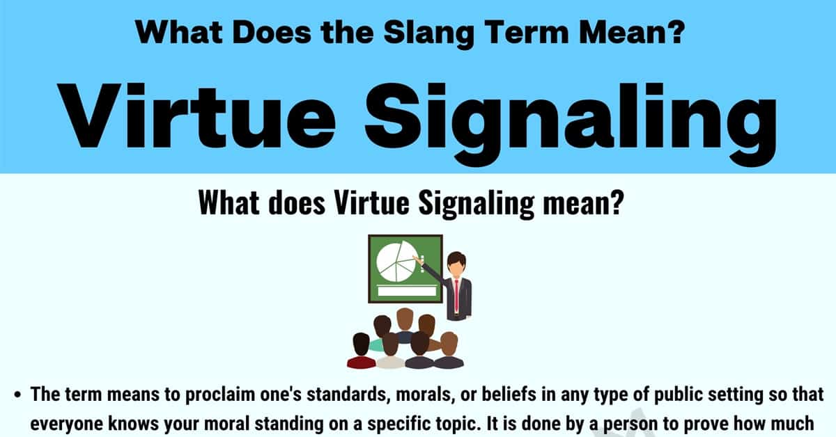 """""""Virtue Signaling"""" 