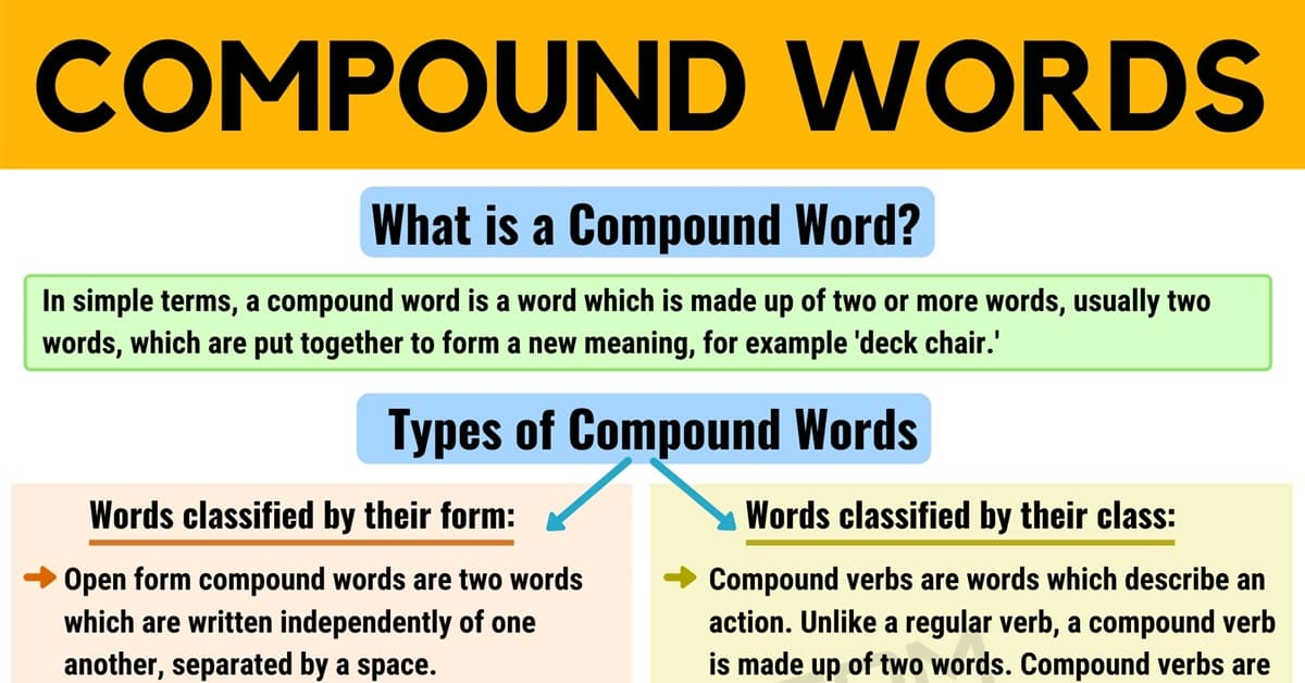 Compound Words: List of Compound Words with Different Types 6
