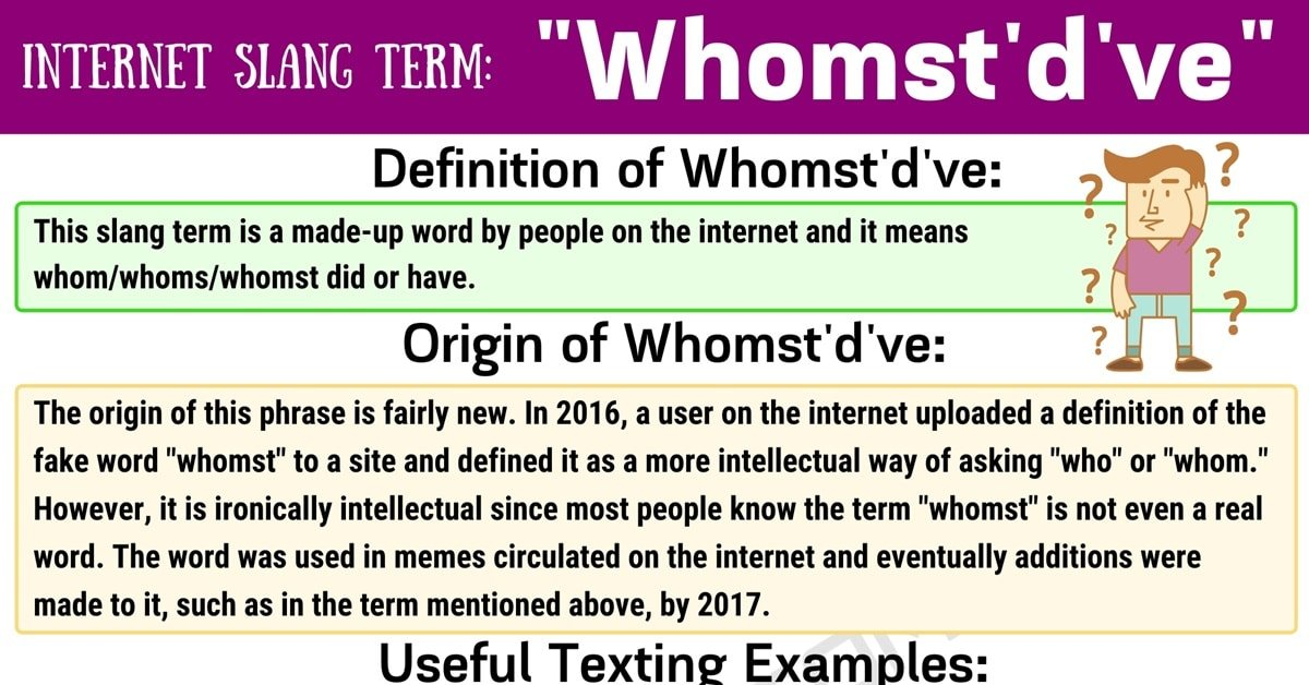 """Whomst'd've Meaning: What Does the Useful Slang Term """"Whomst'd've"""" Mean? 1"""