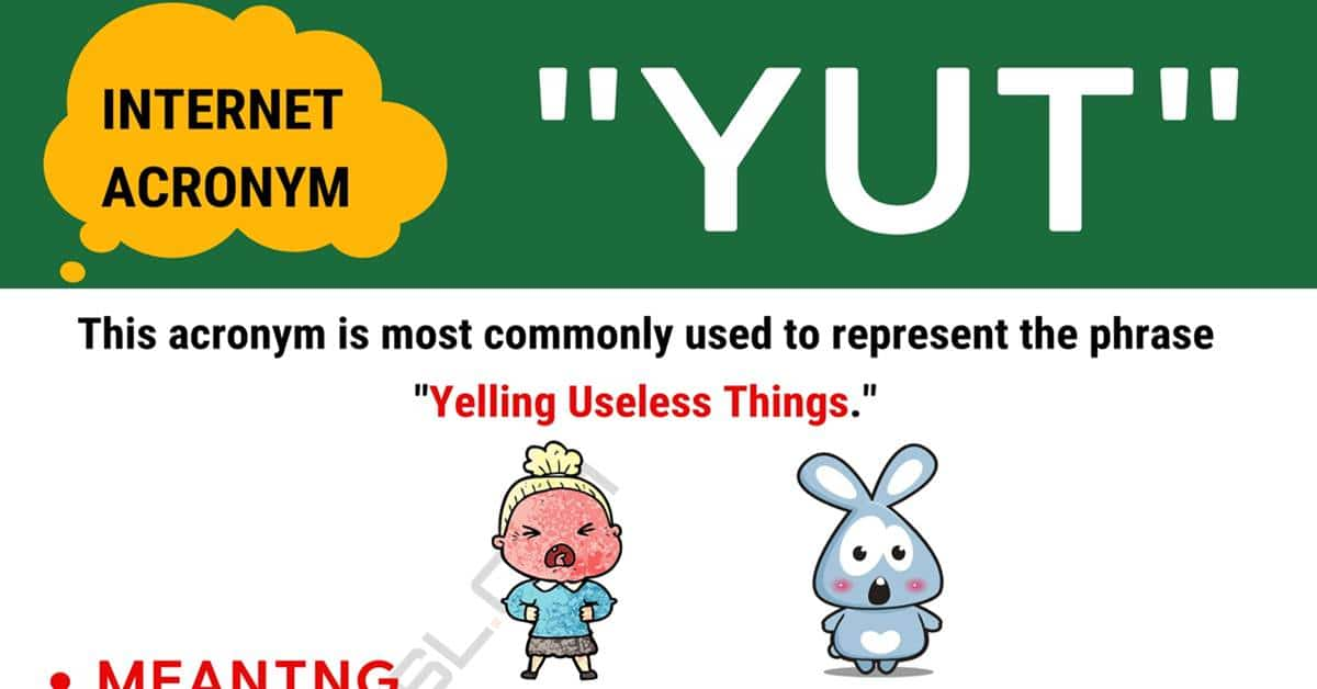 """YUT"" Meaning 