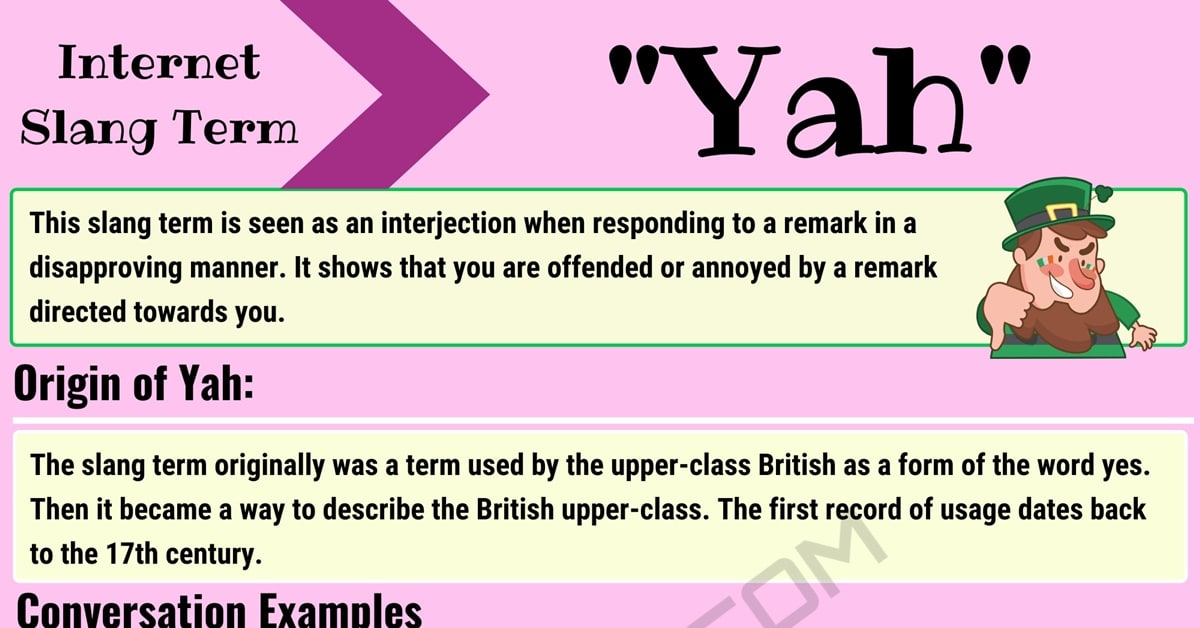 """""""Yah"""" Definition 
