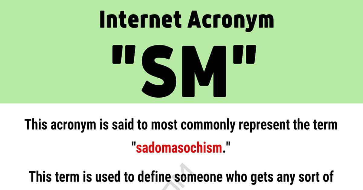 """SM"" Meaning: What Does The Acronym ""SM"" Mean and Stand For? 1"