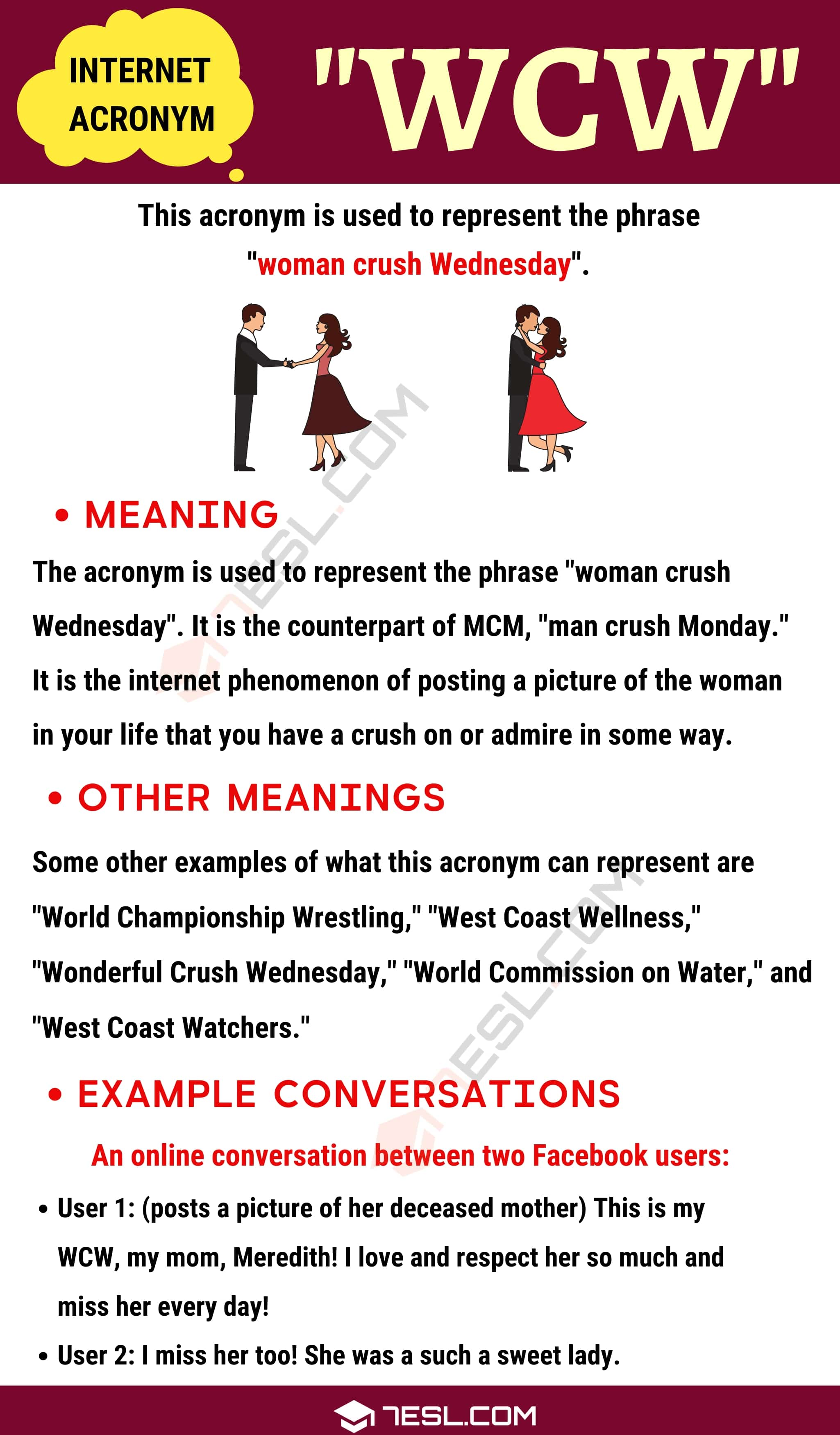 "WCW Meaning: Definition and Examples of the Useful Acronym ""WCW"""