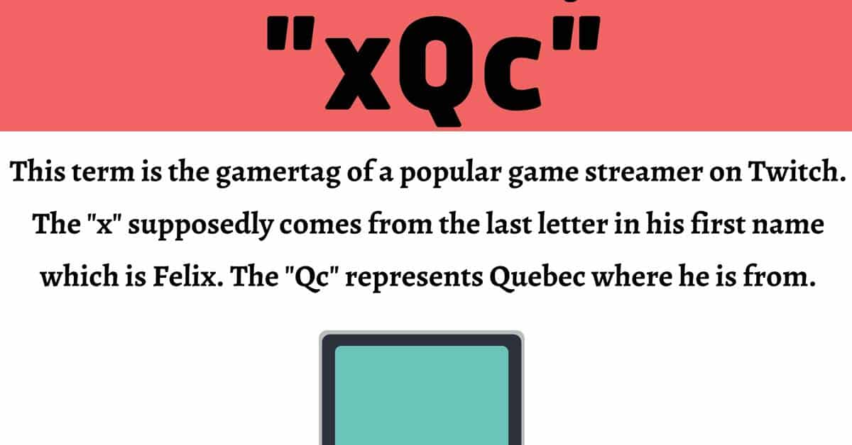 xQc Meaning: What Does This Internet Term Mean and Stand For? 1