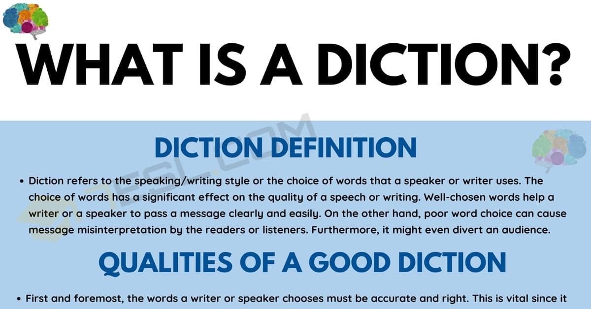Diction: Definition, Types, and Examples of Diction in Speaking and Literature 2