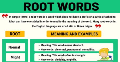 Root Words: Definition and List of Root Words with Meanings